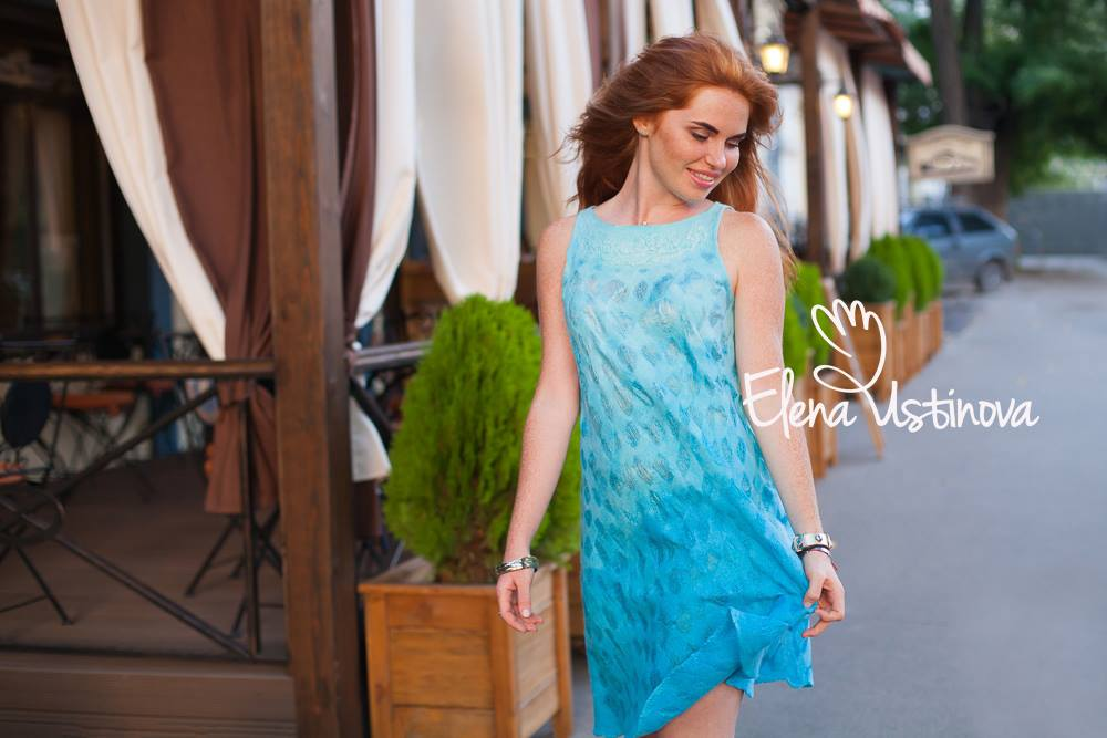 летний ажурный войлок покраска шерсти елена устинова нуно мастер класс валяние elena ustinova felted wool merino dress