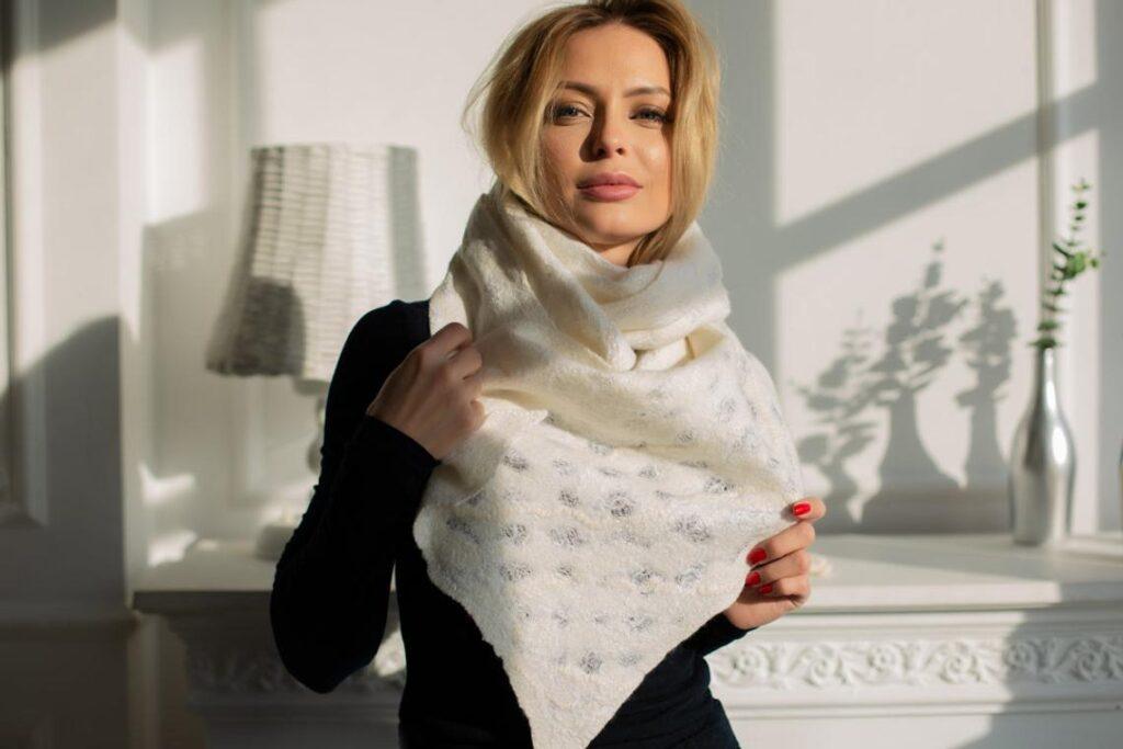 nuno felted felt scarf elena ustinova